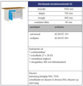 werkbank modulair 1500 mm